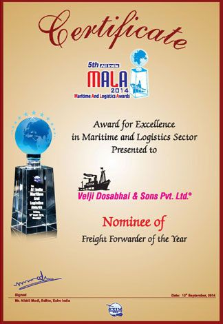 Nominee - Freight Forwarder