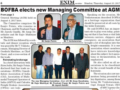 BOFBA elects new Managing Committee at AGM