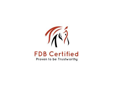 FDB Certified logo certifying the trustworthiness and reliability of a company