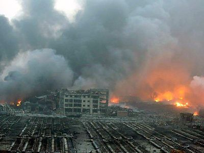 Photos from the Tianjin blast site