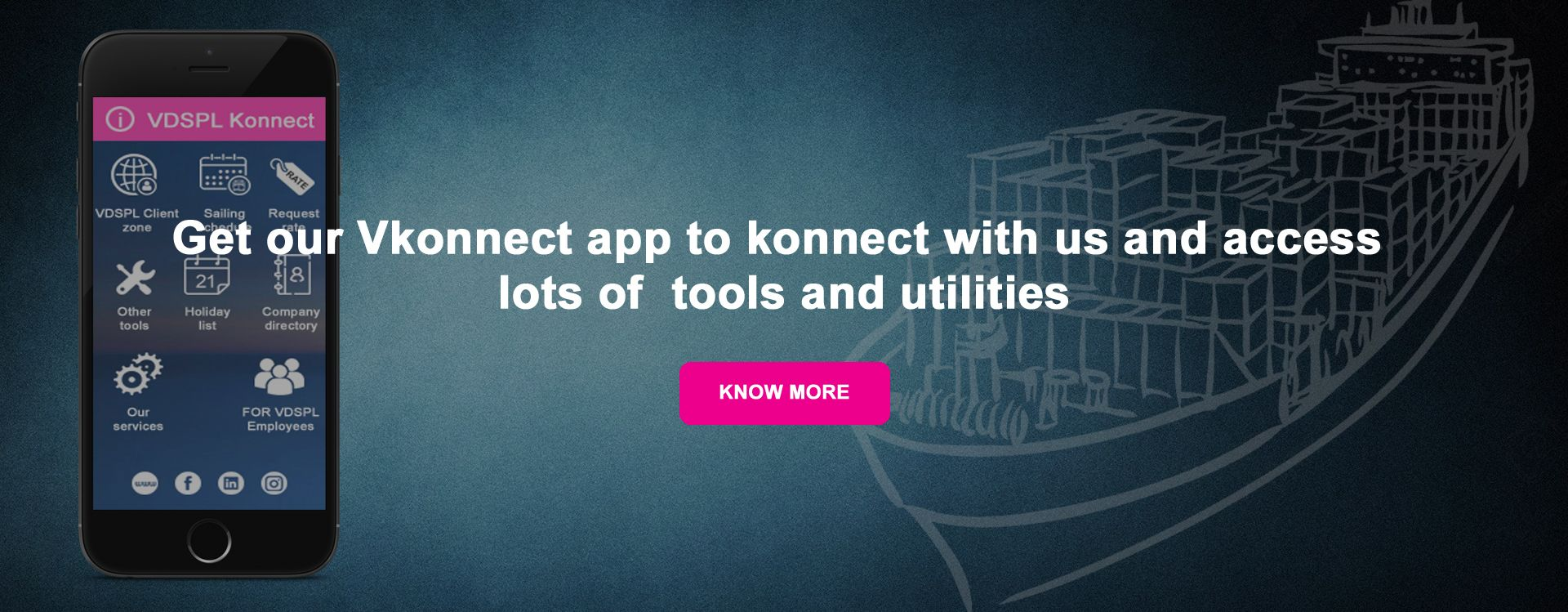 Get our Vkonnect app to konnect with us and access lots of  tools and utilities