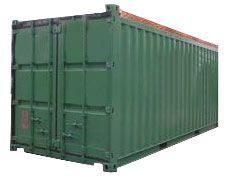 20' Flat Rack Container with Four Freestanding Posts